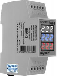 Переключатель фаз DIGITOP PS-63A (max 80 A) ВОЛЬТМЕТР DIGITOP Вм-3 (~50-400 B)