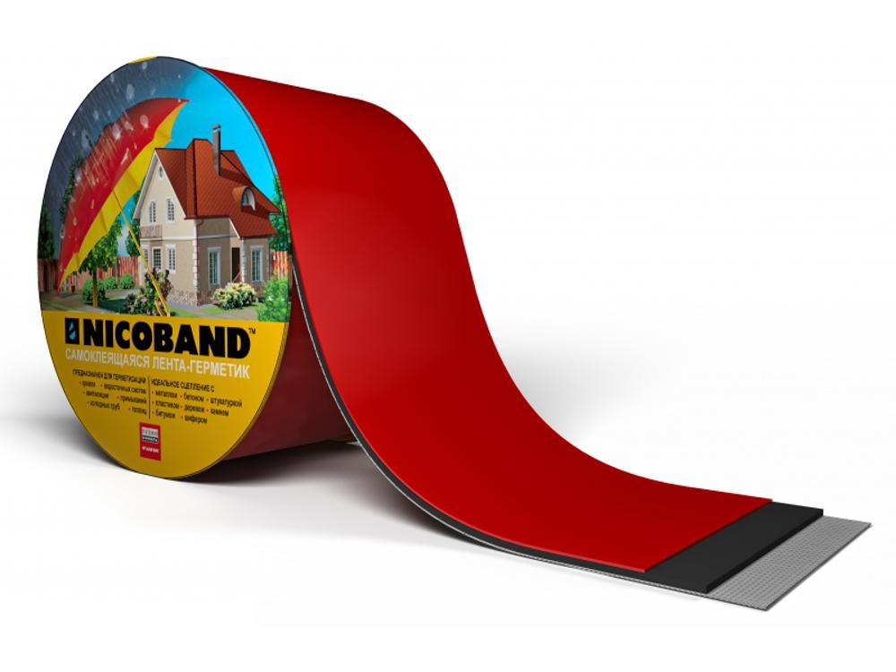 Битумно полимерная лента фольгированная Никобенд 15 см * 15 м