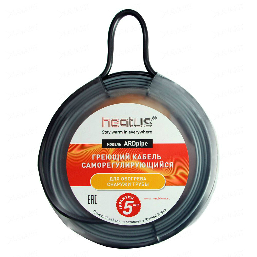Греющий кабель Heatus ARDpipe-16 608 Вт 38 м