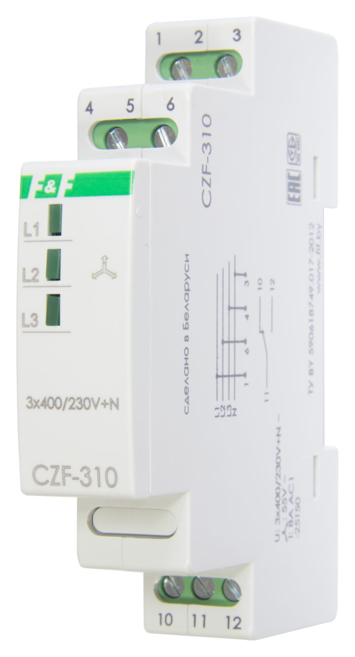 Реле контроля фаз CZF-310