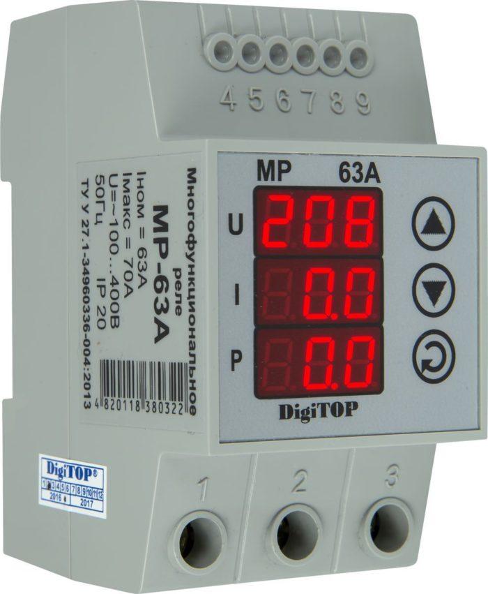 Многофункциональное реле DIGITOP MP-63A (max 80 A, 13900 BA)