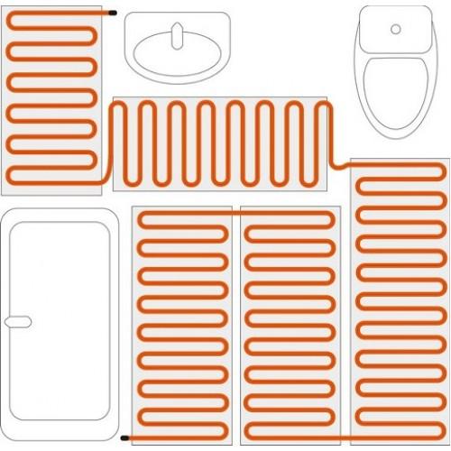 Теплый пол - нагревательный мат Теплолюкс ProfiMat (180 Вт, 1,0 м2)