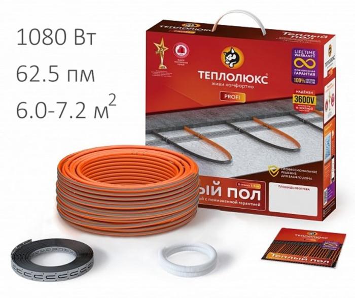 Нагревательный кабель - Теплолюкс ProfiRoll (1080 Вт, 62,5 пм)