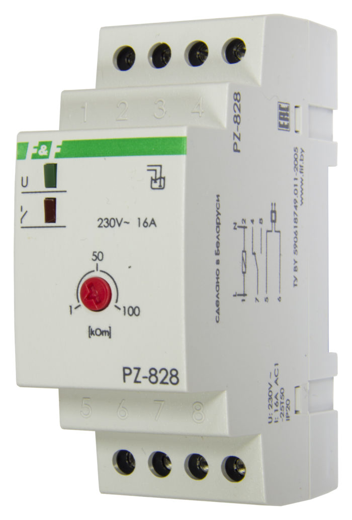 Реле уровня жидкости PZ-828 без датчика