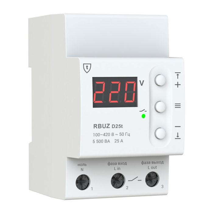 Реле напряжения RBUZ ZUBR D25T