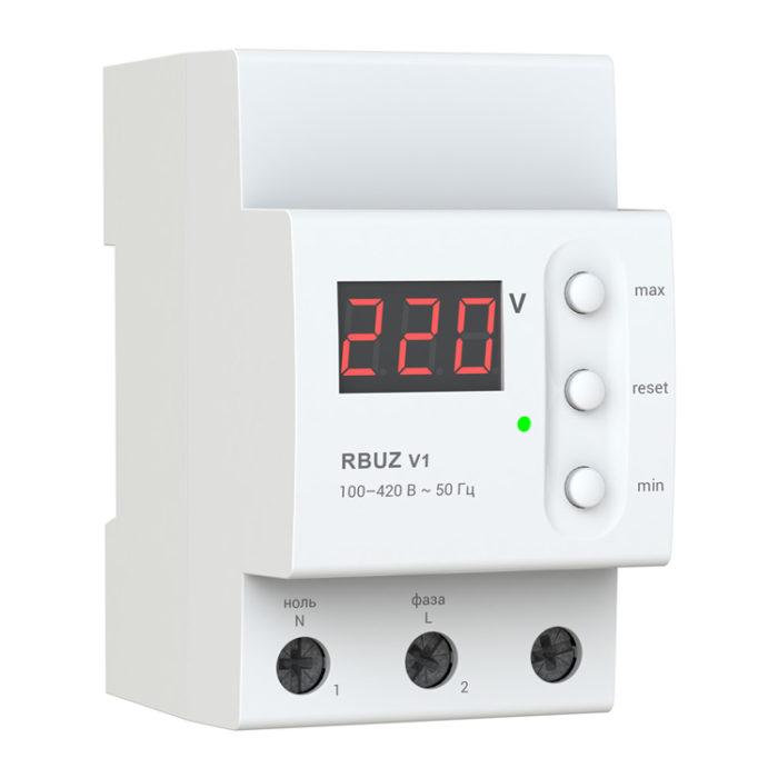 Однофазный бытовой вольтметр RBUZ V1