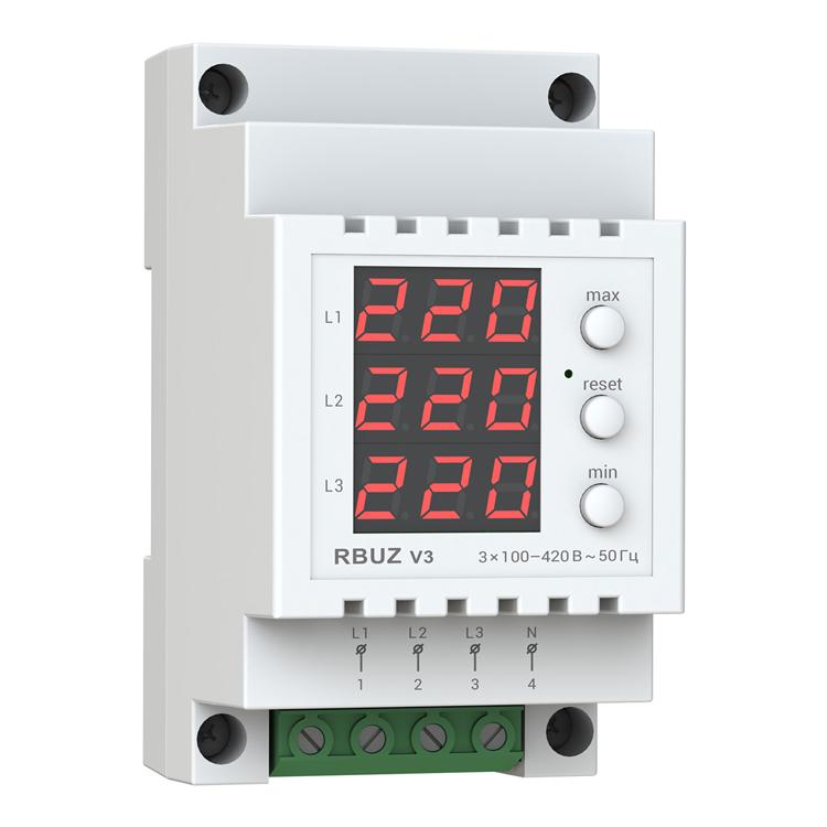 Трехфазный бытовой вольтметр RBUZ V3