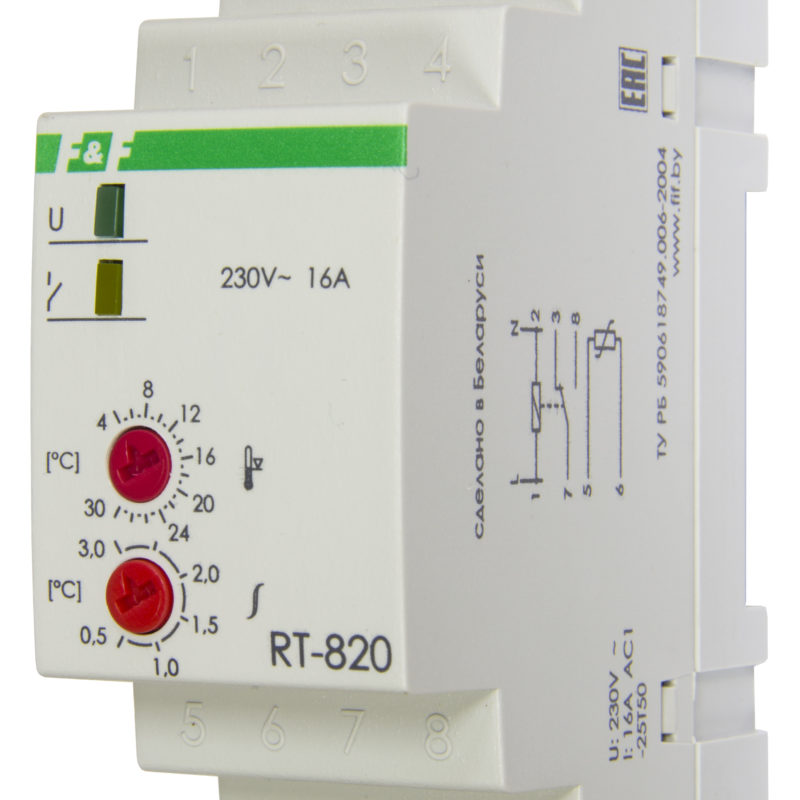 Терморегулятор RT-820 (2 кВт, 16 А)