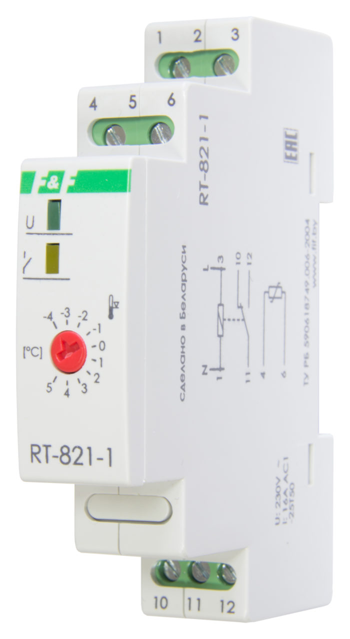 Терморегулятор RT-821-1 (2 кВт, 16 А)