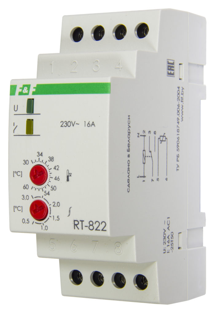 Терморегулятор RT-822 (2 кВт, 16 А)