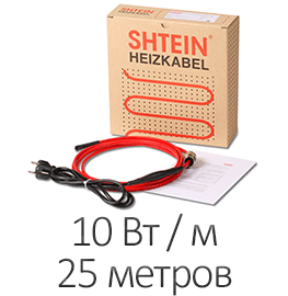 Греющий кабель - Shtein SWT-10 MF (10 Вт/м, 25 м)