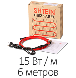 Греющий кабель - Shtein SWT-15 MF (15 Вт/м, 6 м)