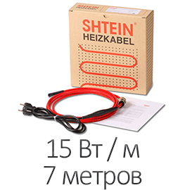 Греющий кабель - Shtein SWT-15 MF (15 Вт/м, 7 м)