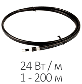 Греющий кабель - Shtein SWT 24MP SLIM (24 Вт/м, до 200 м)