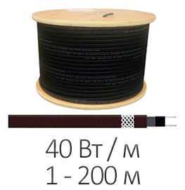 Греющий кабель - Shtein SWT-40 MP UV (40 Вт/м, до 200 м)
