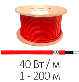 Греющий кабель - Shtein SWT-40 MF (40 Вт/м, до 200 м)