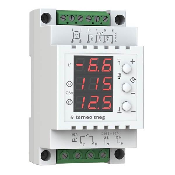 Терморегулятор TERNEO SNEG (16 А, 3 кВт, датчик осадков)