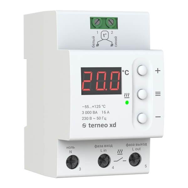 Терморегулятор TERNEO XD (16 А, 3 кВт)