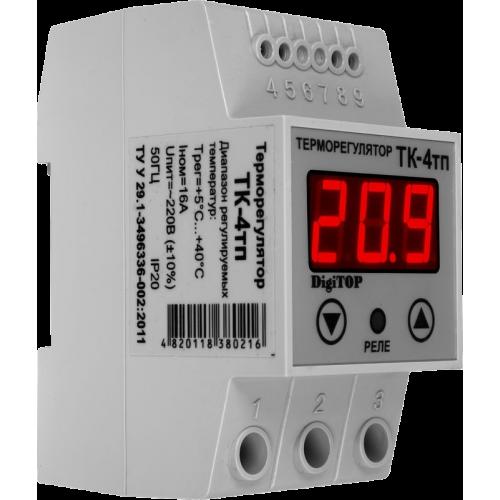 Терморегулятор DIGITOP ТК-4тп (16 А, 3 ВТ)