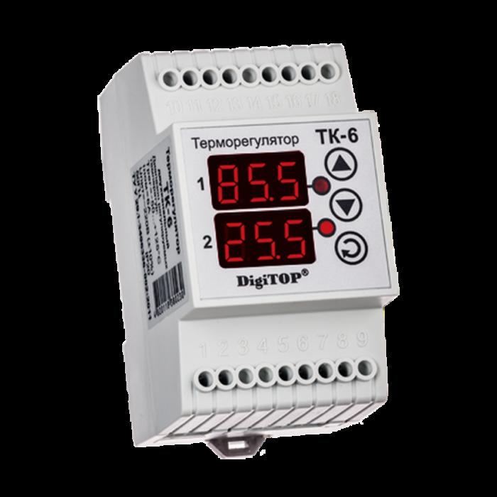 Терморегулятор DIGITOP ТК-6 (16 А, 3 ВТ)