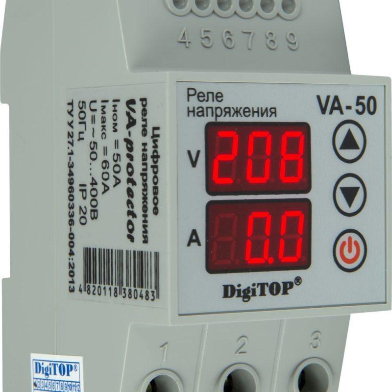 Реле напряжения DIGITOP VA-50 (max 60 A, 11000 BA)