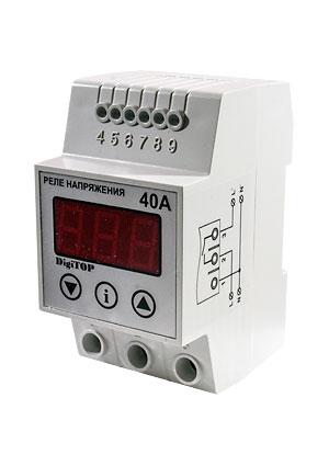 Реле напряжения DIGITOP Vp-40A (max 50 A, 8800 BA)