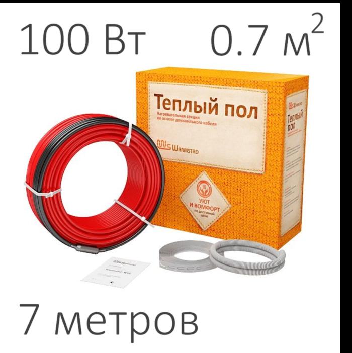 Нагревательный кабель - Warmstad WSS (100 Вт, 7 пм)