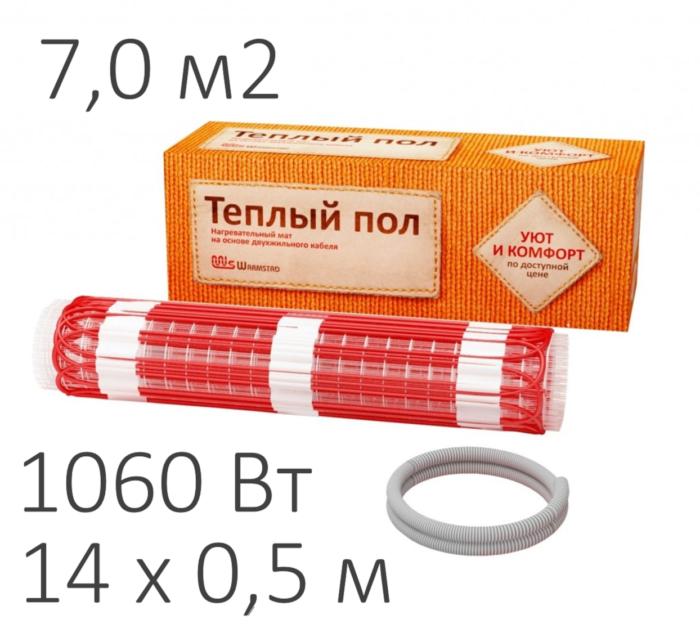 Теплый пол - нагревательный мат WARMSTAD WSM (1060 Вт, 7,0 м2)