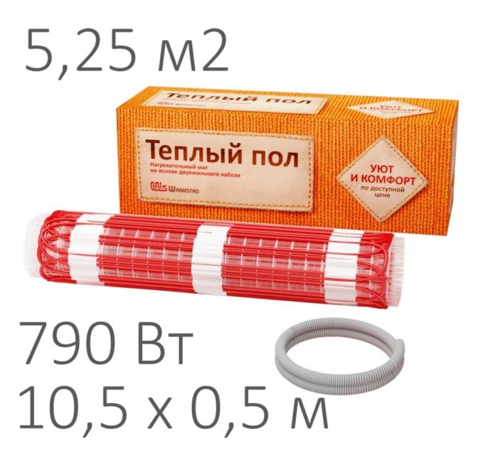 Теплый пол - нагревательный мат WARMSTAD WSM (790 Вт, 5,25 м2)