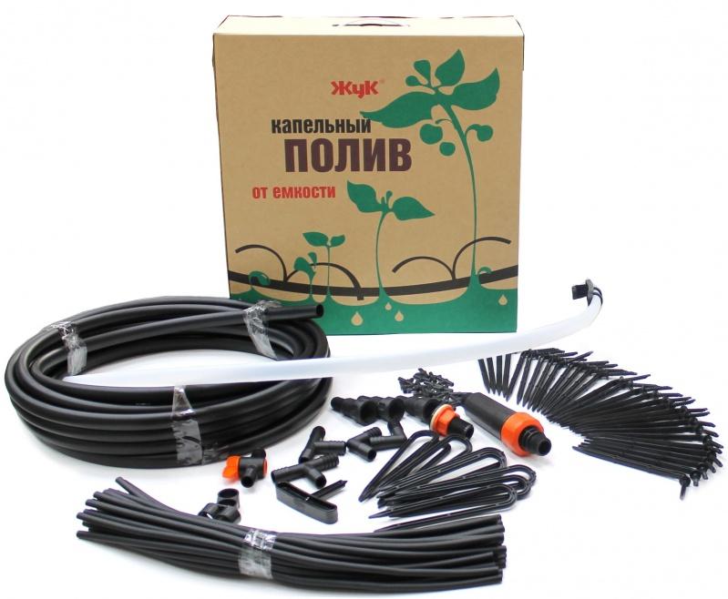 """Комплект для капельного полива """"ЖУК"""" на 30 растений от емкости с таймером"""