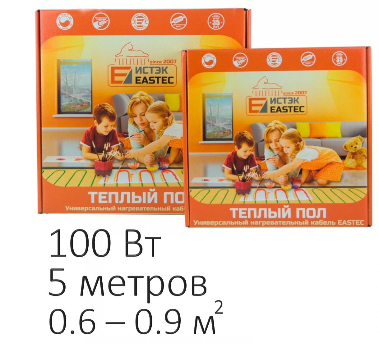 Нагревательный кабель - Eastec ECC-100 (100 Вт, 5 м)